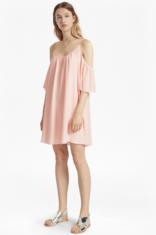Crepe Light Cold Shoulder Dress