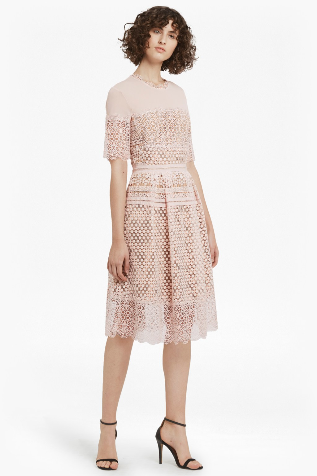 Anouk lace dress collections french connection for Beige dress for wedding guest