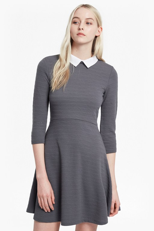sudan shirting collar skater dress