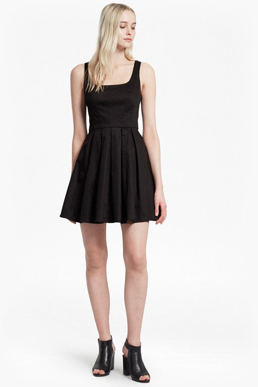 satin river daisy uno strappy skater dress