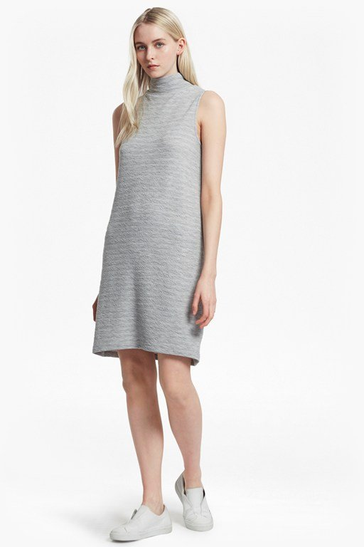 sudan mock neck sleeveless dress