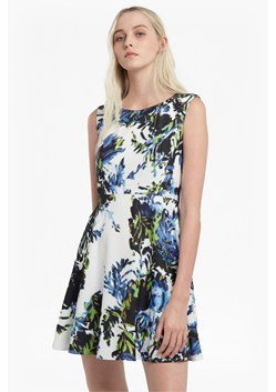 Kiki Palm Skater Crepe Dress