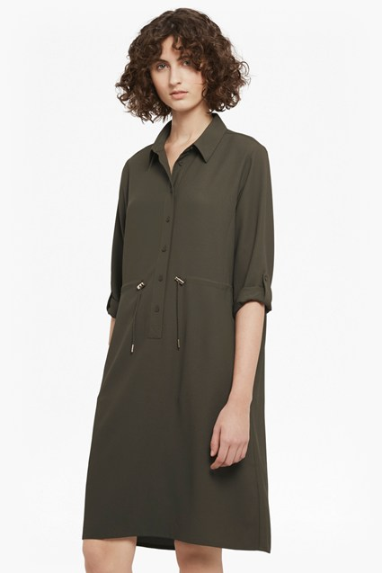 Cecil Drape Drawcord Shirt Dress