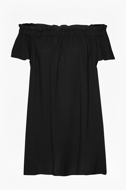 Evening Dew Oversized Bardot Dress