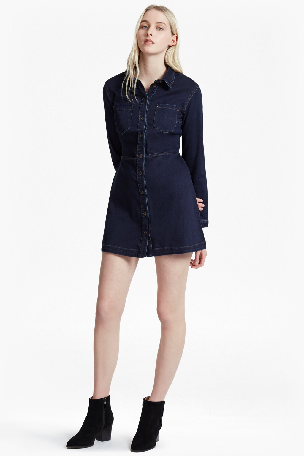 Indigo snug denim shirt dress collections french for French connection shirt dress