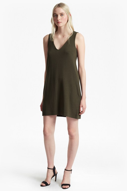 Sudan Marl V Neck Shift Dress