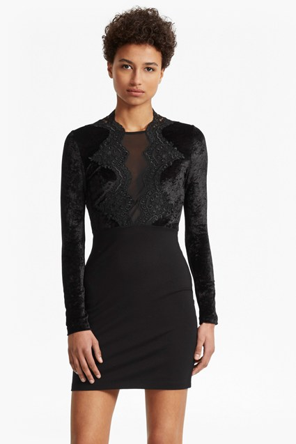 The London Velvet and Lace Dress