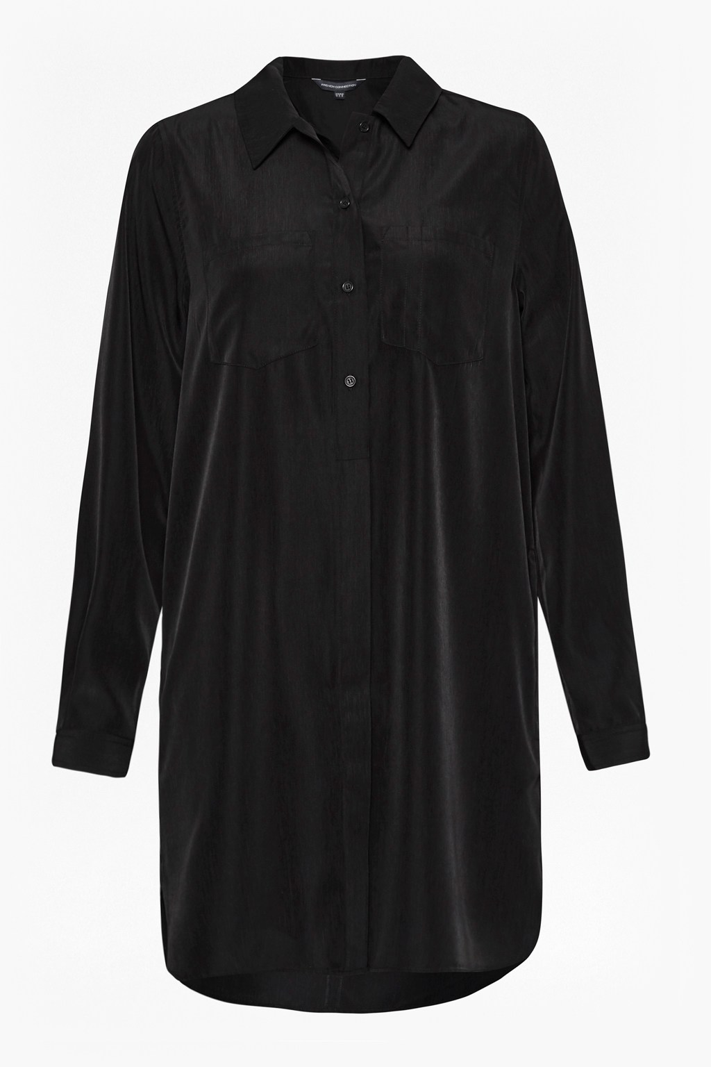Oversized Light Crepe Shirt Dress Collections French Connection