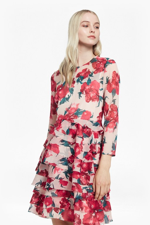 allegro poppy sheer dress