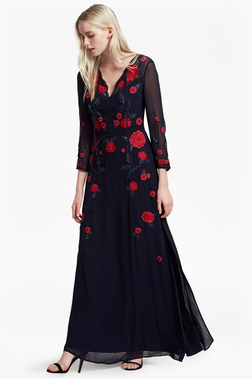 amore sequin maxi dress