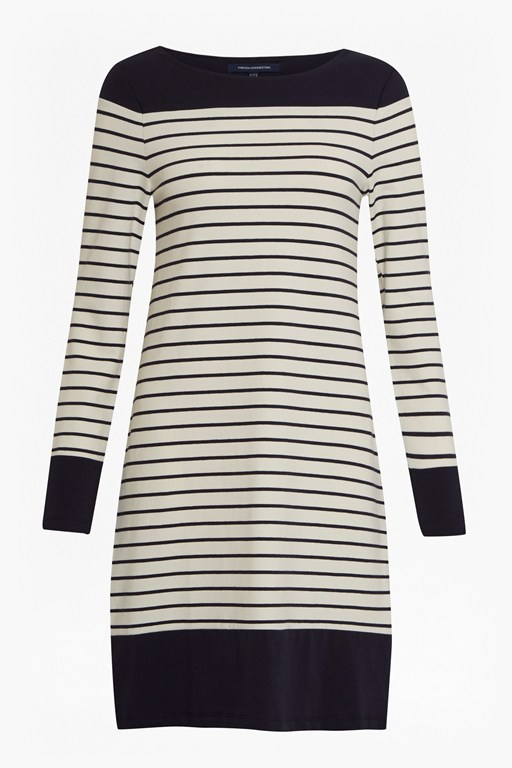 tim tim round neck striped dress