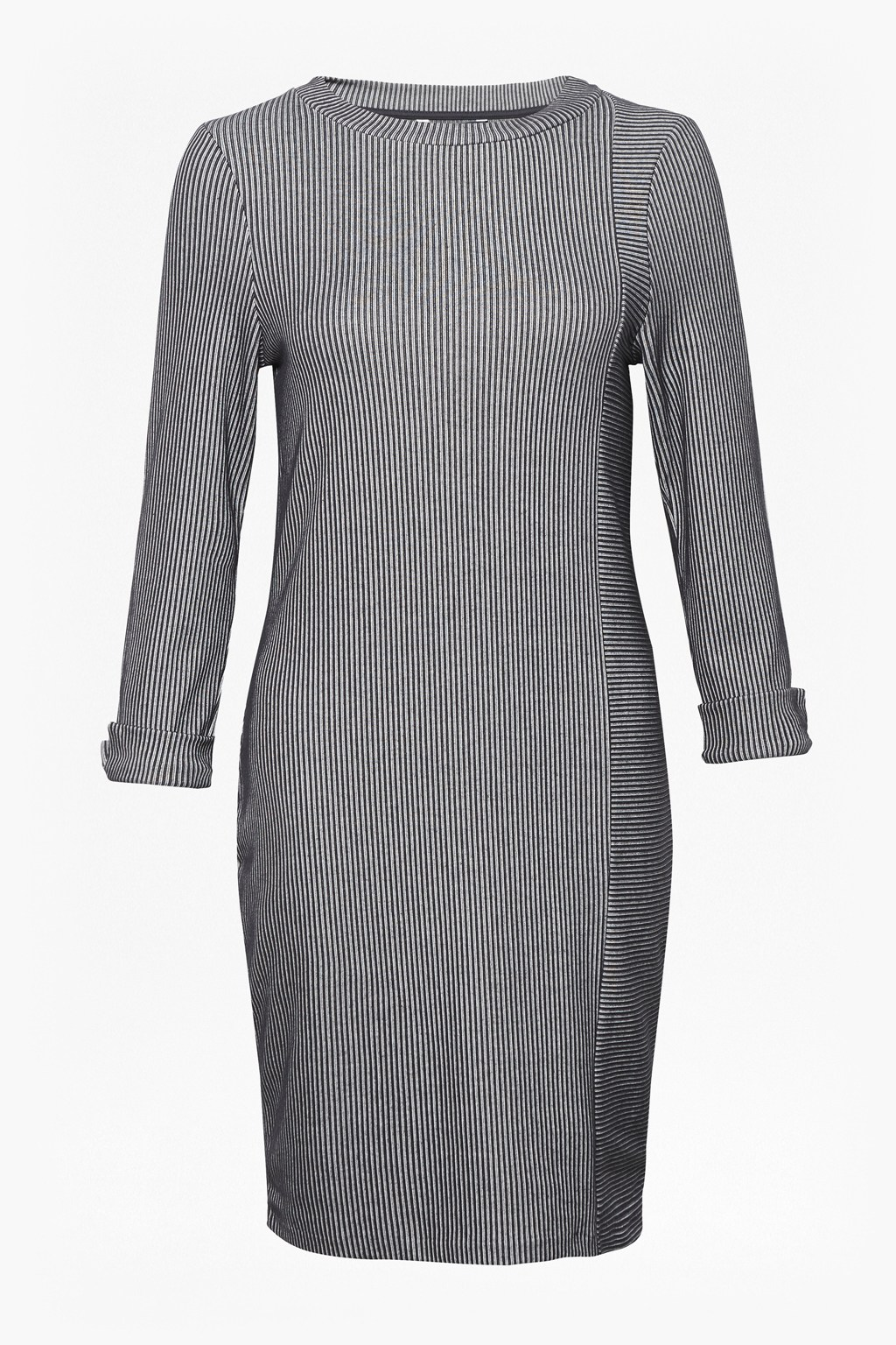 befac244f1 Sario Ribbed Jersey Round Neck Dress. loading images.