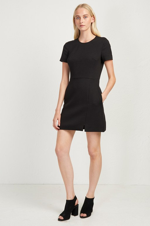 hua texture fitted dress