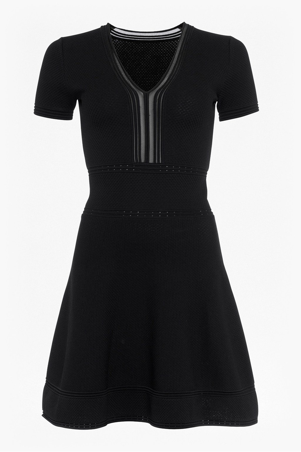 528a6e3ddf94 Ellie Knits V Neck Fitted Dress | Collections | French Connection
