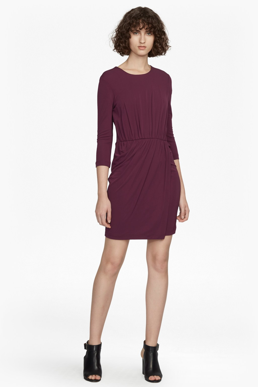 6cc01899c0719f Elsa Long Sleeved Draped Jersey Dress | Collections | French Connection