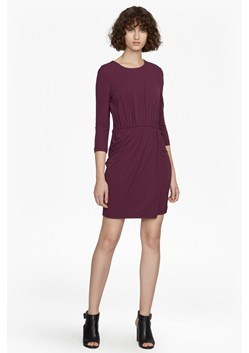 Elsa Long Sleeved Draped Jersey Dress