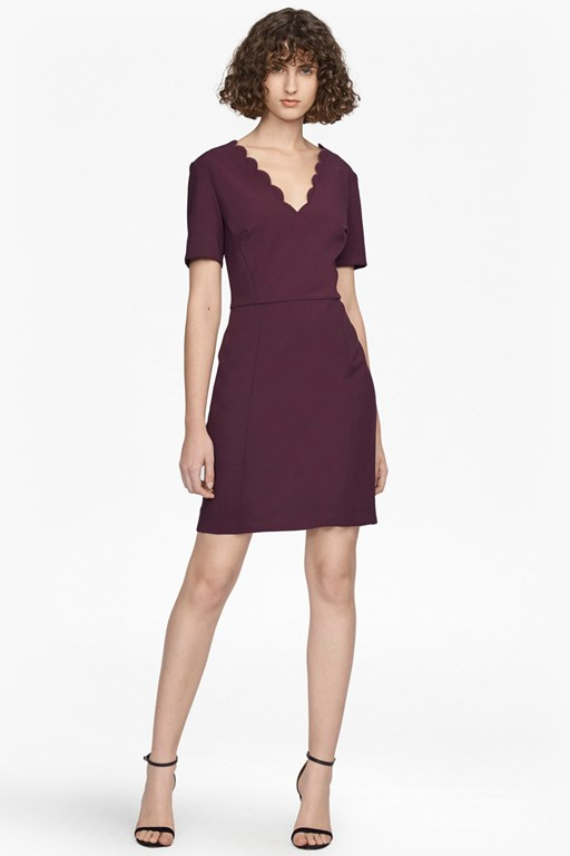 whisper ruth scalloped dress