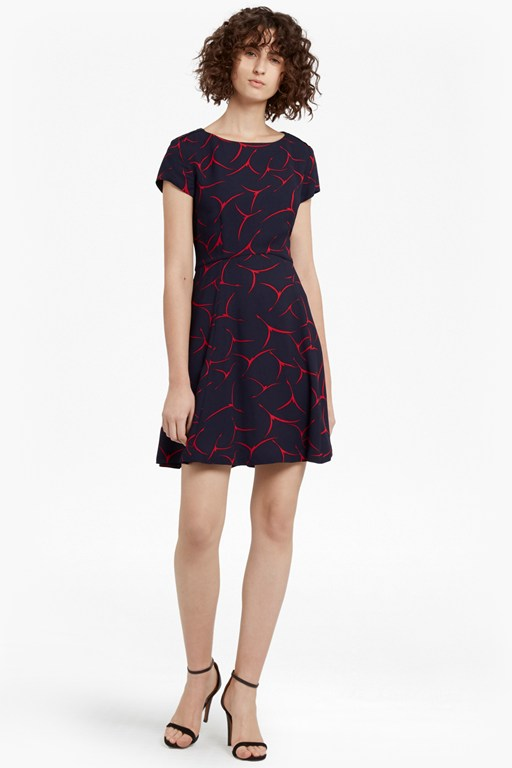 rosalind drape skater dress
