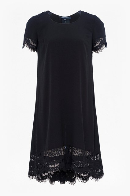 Classic Crepe and Lace Dress