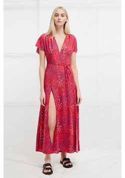 Frances Drape Printed Maxi Dress