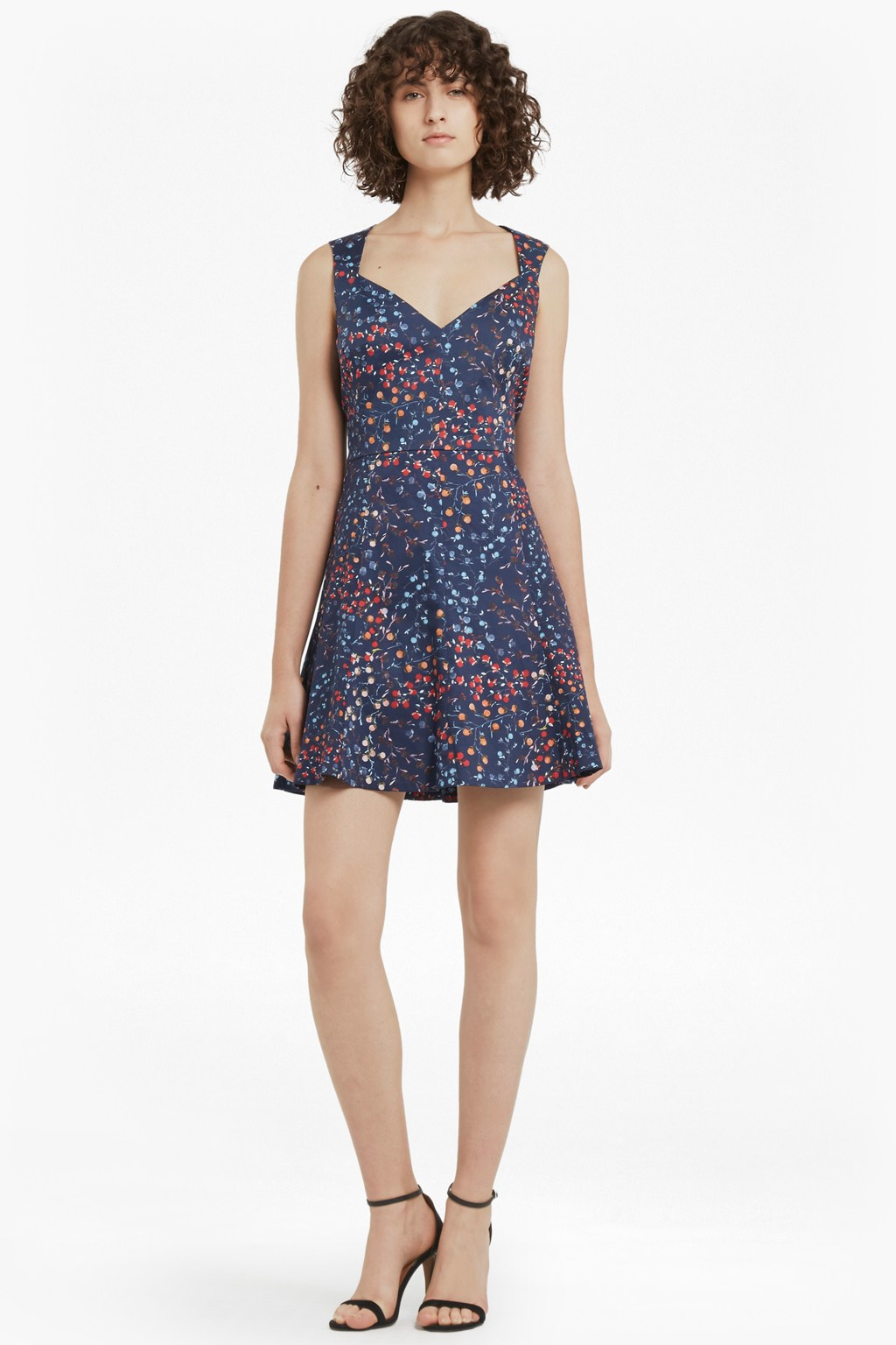 Frances Printed Cotton Skater Dress | Collections | French Connection