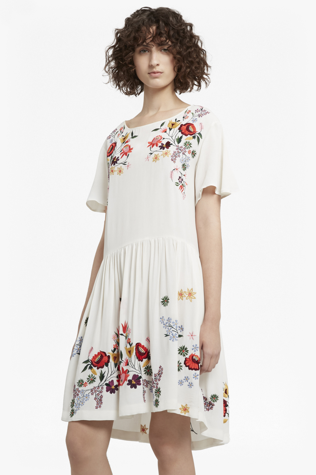 Collections Connection Alice Embroidered French Drape Dress wUO4qFCtx