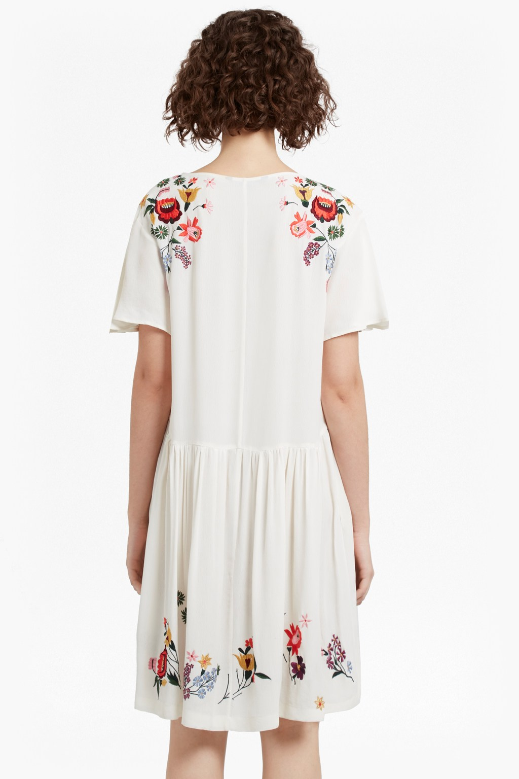 71dfd6d15d1 Alice Drape Embroidered Dress   Collections   French Connection