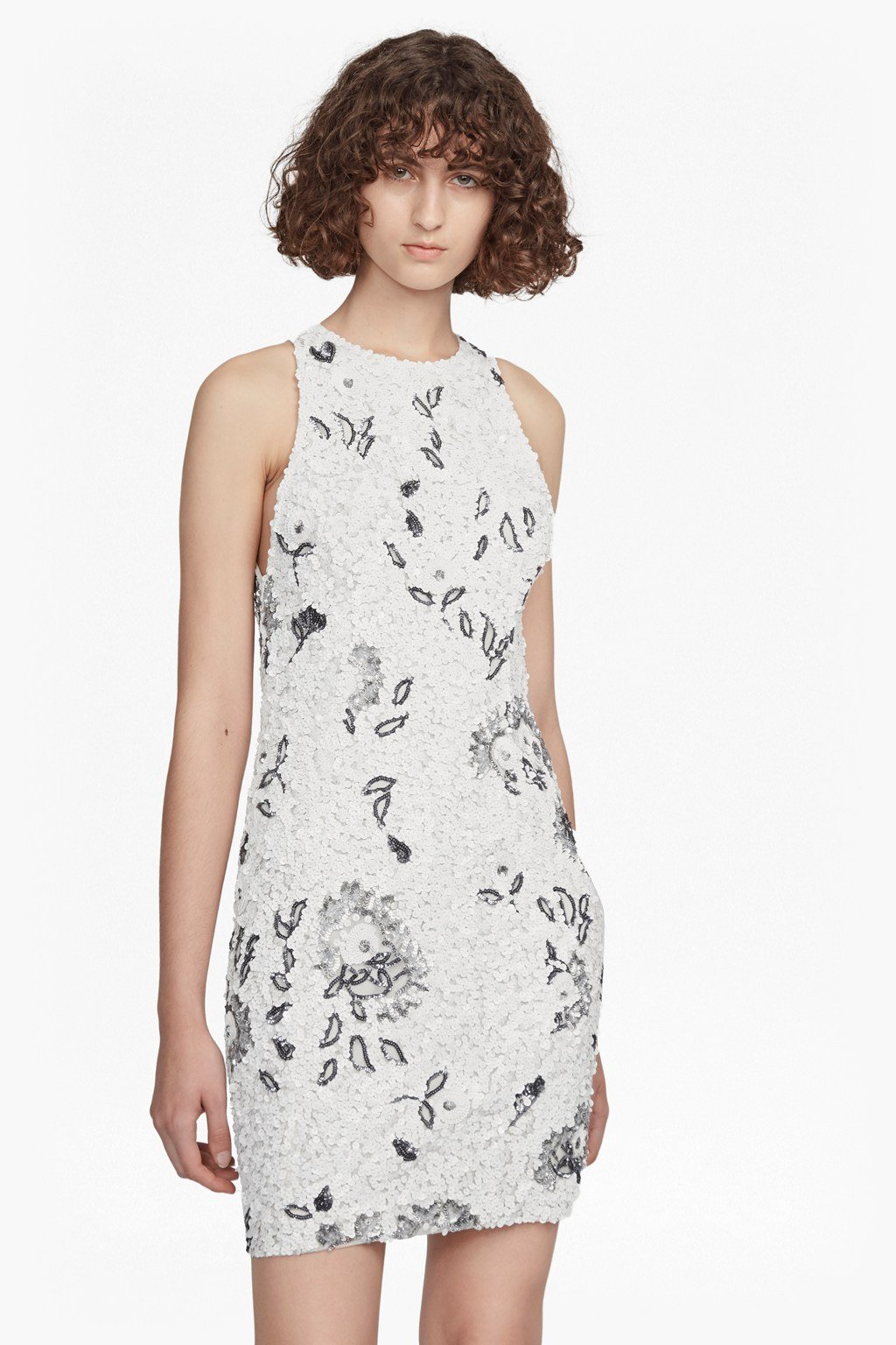64c8e661727 Valerie Sleeveless Sequin Dress | Collections | French Connection