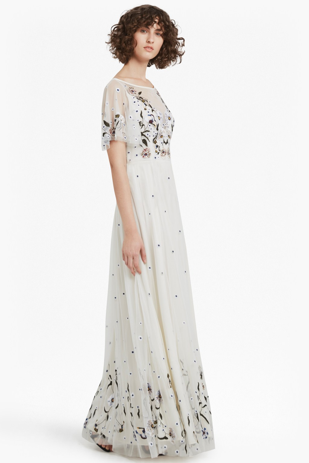 Lucille Stretch Embroidered Maxi Dress | Collections | French Connection