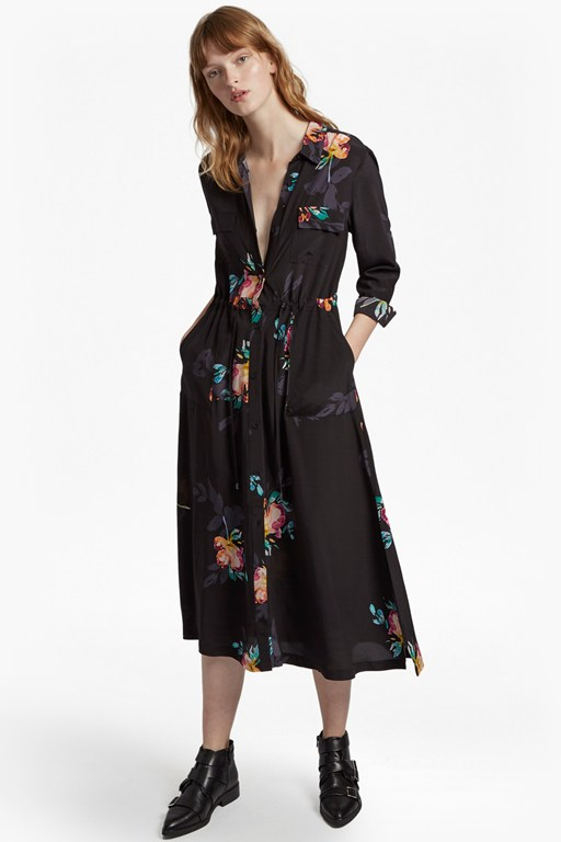 Complete the Look Delphine Drape Shirt Dress