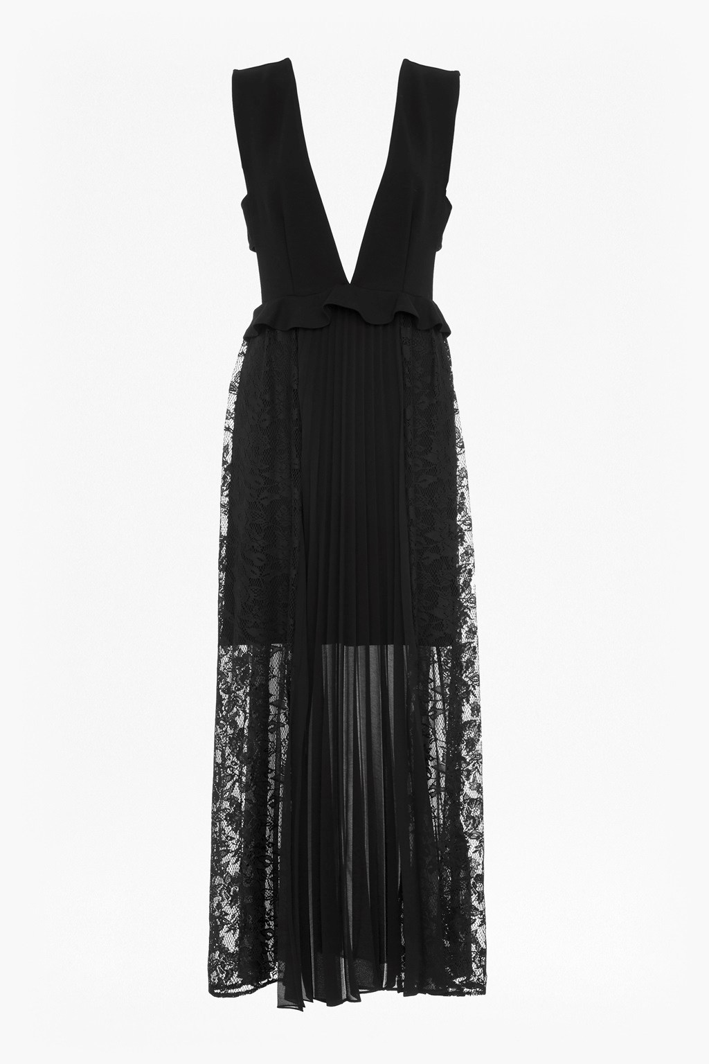 dad7dd81f80 loading images... loading images... Angelina Pleated Lace and Jersey Maxi  Dress