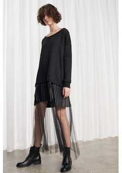 Annabelle Pleated Mesh Jersey Dress