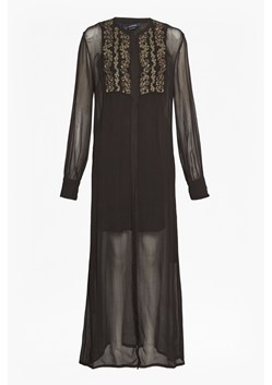 Donna Sheer Embroidered Maxi Dress