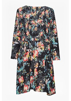 Delphine Crepe Mix Bell Sleeve Dress