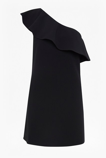 Whisper Ruth One Shoulder Ruffle Dress