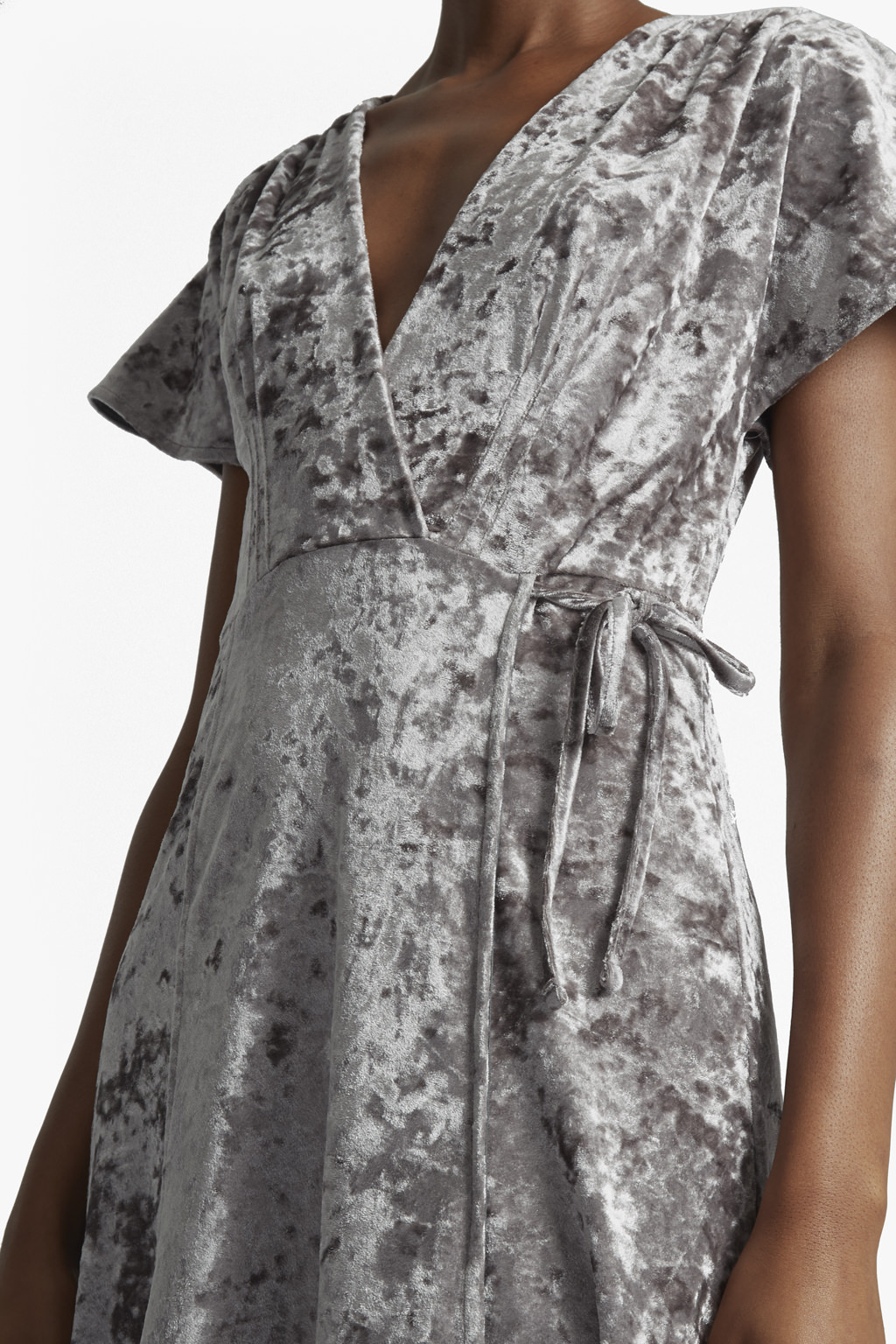 Aurore Crushed Velvet Maxi Dress Collections French Connection