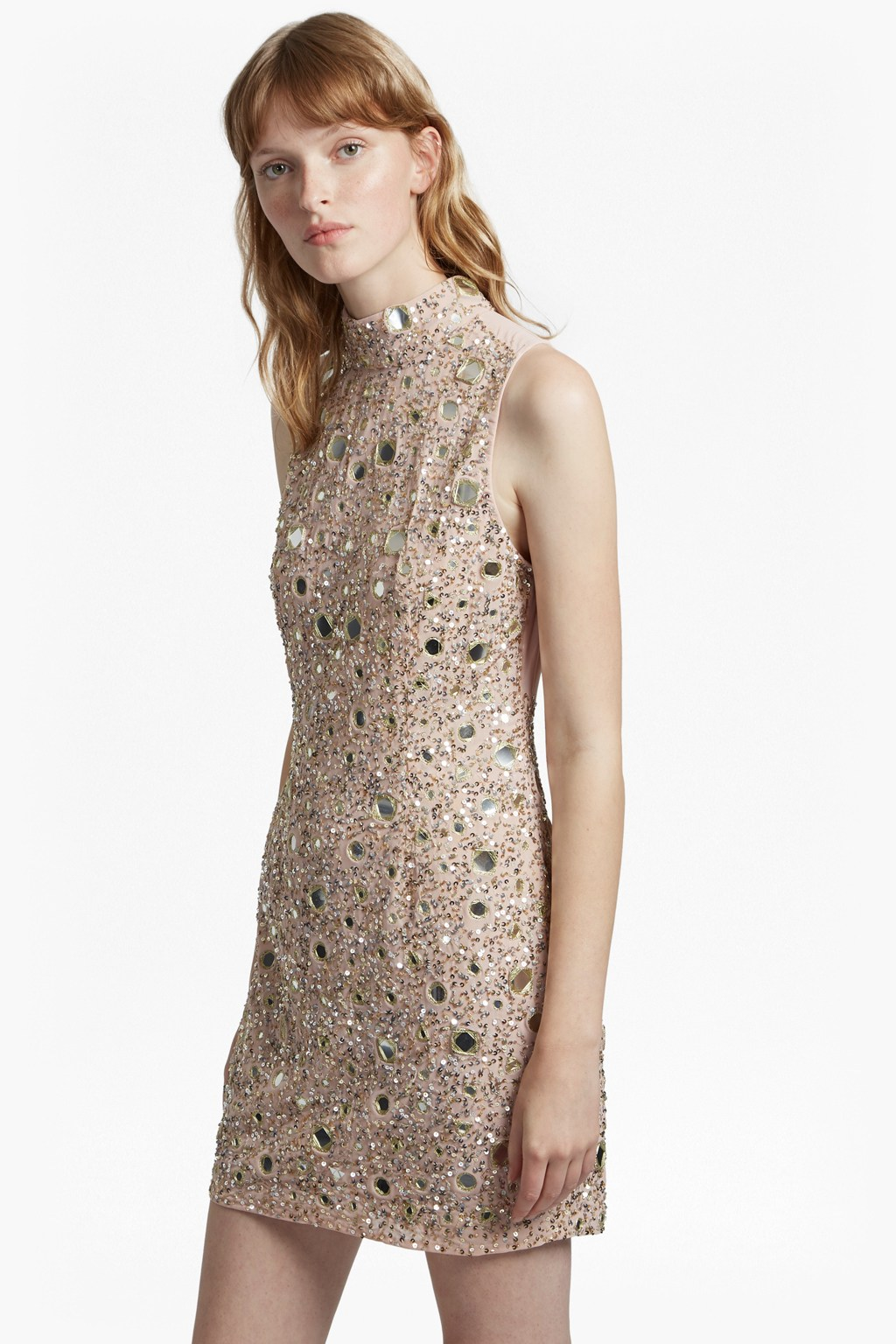 b796407f62ec Eloise Mirrors High Neck Dress | Collections | French Connection