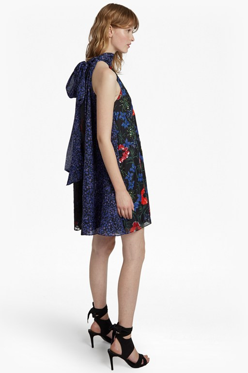 lisette sparkle halterneck floral dress