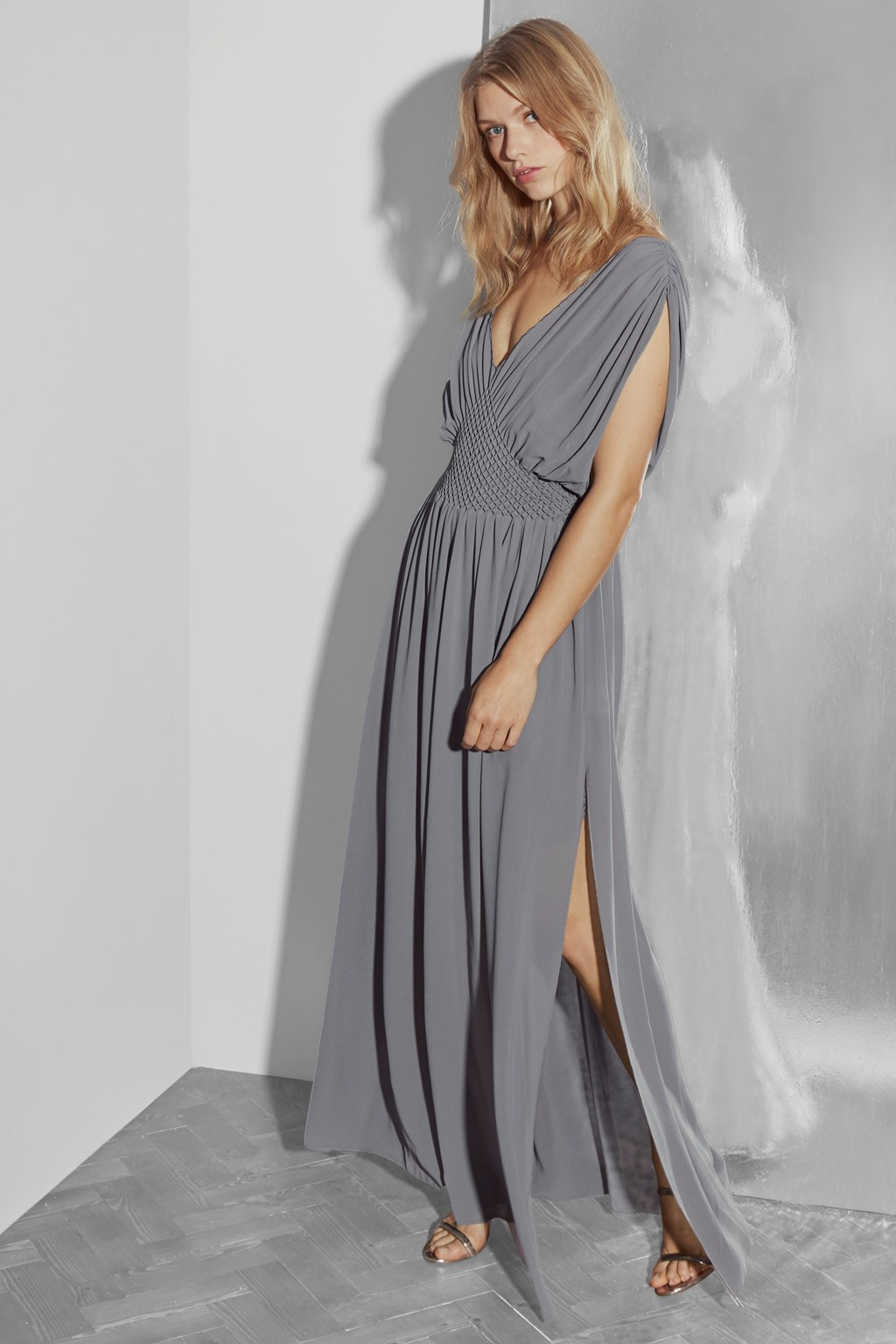 bdf403b269 Jeunesse Stitch V Neck Maxi Dress   Collections   French Connection