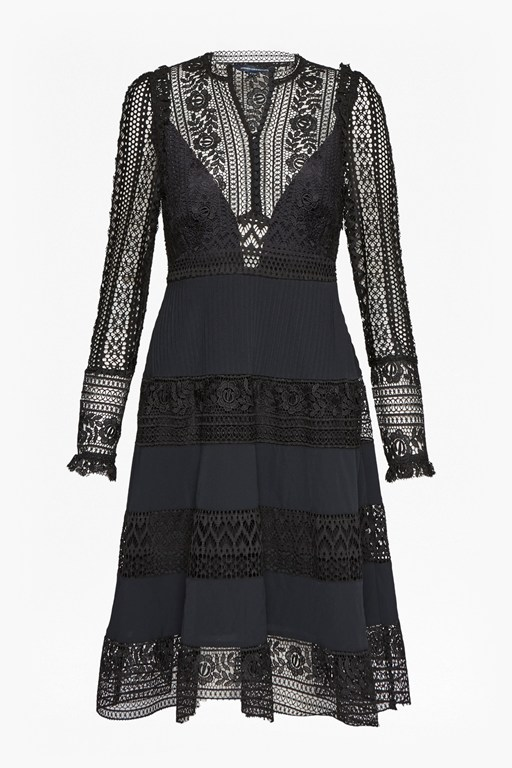 orabelle flared lace dress