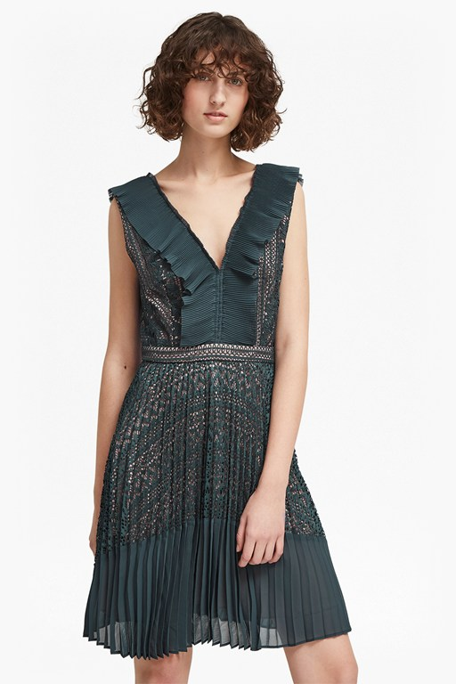 orabelle lace sleeveless v neck dress
