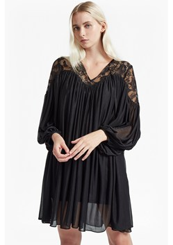 Lassia Lace Jersey Tie Neck Dress