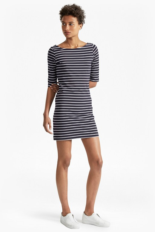 tim tim stripe jersey dress