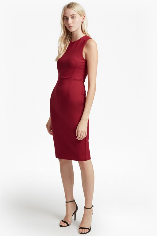 lula stretch sleeveless midi dress