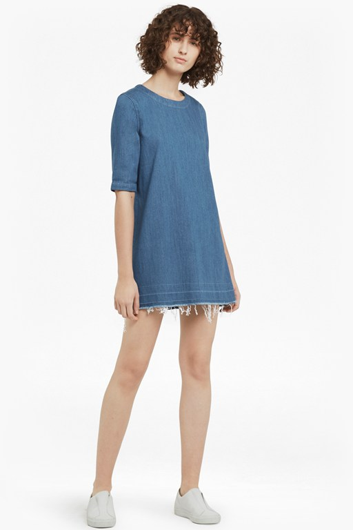 evelyn denim dress