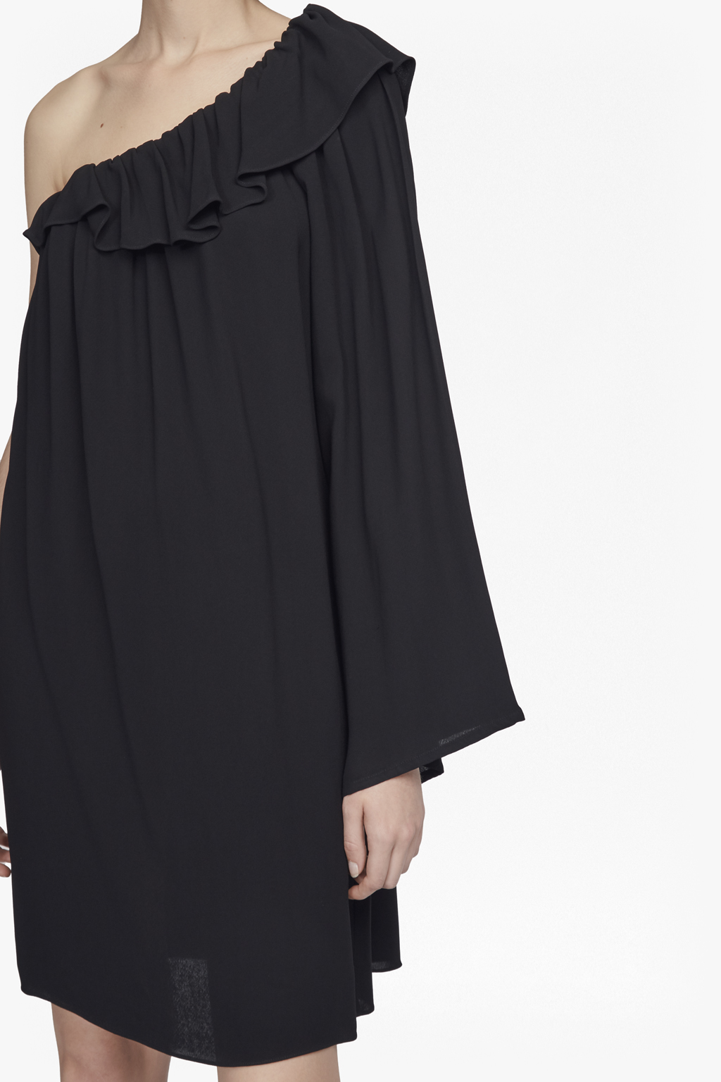 Black one shoulder dresses