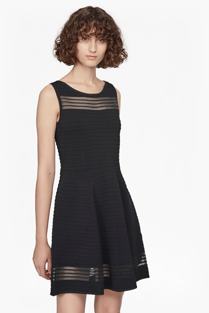 Tobey Crepe Knit Mini Skater Dress