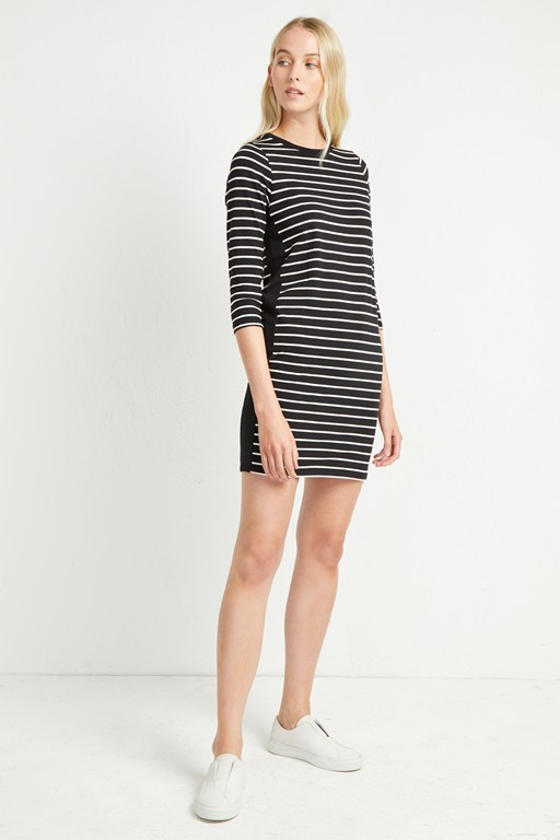 tim tim colour block striped dress