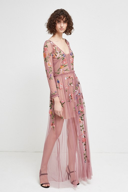 katalina sheer maxi dress