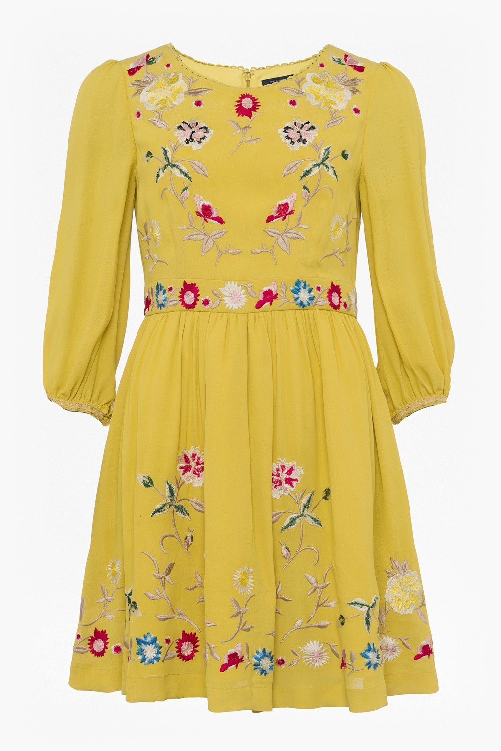 ce87e6e31f6 Saya Crepe Embroidered Flared Dress | Collections | French Connection